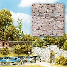 (1m²=32,02€) BUSCH 7423 H0, 2 Dekorplatten, Sandstein, 210 x 148 x 0,6 mm