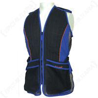 SKEET SHOOTING VEST - BLUE - Hunting Clay Pigeon Jacket Waist Coat Body Outdoors