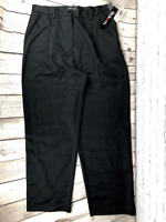NWT Style & Co Pleated Black High Waist Dress Career Pants Womens Size 16 NEW
