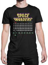 """T-shirt Uomo """"Space Invaders"""" - maglietta 100% cotone - NERO"""