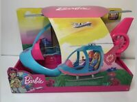 Barbie Dreamhouse Adventures Helicopter Plane Spinning Rotors Travel Pink & Blue