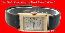 WW2 Vintage Nuovo di zecca 9k ORO IWC Gent's oblunghi Orologio da polso 1943