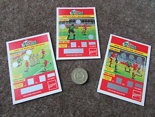 Coca Cola Road to WEMBLEY  Unused  FOOTBALL Scratch Cards  1993  -  SEE PICTURES
