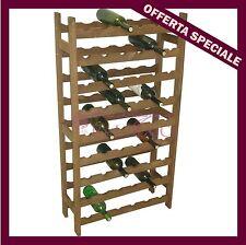 Cantinetta in legno multistrato portabottiglie 54 posti bottiglie vino