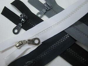 Qingn-Cerniera Accessori Fai da Te Doppio cursori con Cerniera Invisibile per Giacche da Cucire Cerniere per Cucire per Cucire Black 5# Cerniere Impermeabili in Nylon