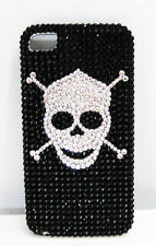 JIMMY CRYSTAL NEW YORK SKULL Black/White CASE for iPhone 4 & 4S Msrp $175.00