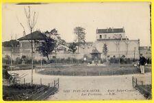 cpa IVRY sur SEINE (Val de Marne) PARC JULES COUTANT animé Parterres Kiosque