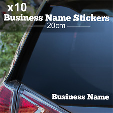 10 Custom Text Stickers Personalised Car Sticker Website Business Name Decals
