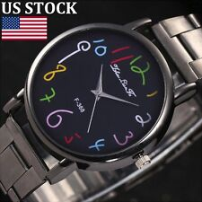 2017 Women Mens Fashion Watch Stainless Steel Quartz Analog Casual Wrist Watches