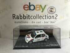 """DIE CAST """" PEUGEOT 205 GTI RALLY ISOLA D'ELBA 1985 P. RIVA """" PASSIONE RALLY 1/43"""