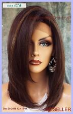 Lace Front Wig HAND TIED HEAT FRIENDLY FS4.27 SOFT STRAIGHT LAYERS USA 1133
