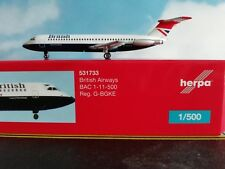Herpa Wings 1:500  531733  British Airways BAC 1-11-500 - Negus colors !