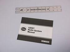 VINTAGE 1980's CADET  R/C MODEL PLANE RADIO SYSTEM MANUAL *G-COND*