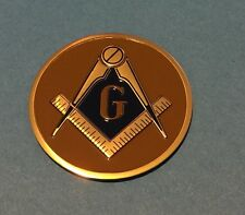 MASONIC FREEMASON LODGE EMBLEM 2' INCH LITHO INSERT ADHESIVE BACK FREE SHIPPING