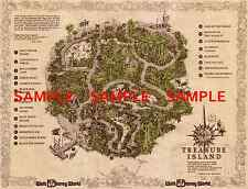 "Vintage Disney 11"" x 14"" ( Treasure Island Map ) Collector's Poster Print -B2G1F"