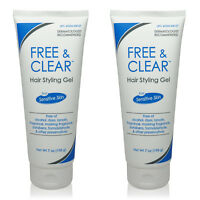 2 x Free & Clear Hair Styling Gel • 7 OZ • New • AUTHENTIC