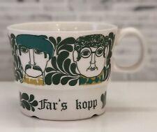 FIGGJO Handled Mug Far's Kopp Norway 2761 Turi Gramstad Oliver Male Faces Green