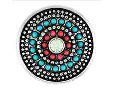BUY 4, GET 5TH $6.95 SNAP FREE GINGER SNAPS™ JEWELRY GYPSY  AQUA & CORAL SN10-23