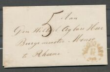 GEBROKEN RING WAGENINGEN 17/11 1853 OP OMSLAG VEENENDAAL(NAAMST.AZ)-RHEENE ZH440