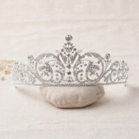 Crystal Tiara Wedding Bride Headband Pageants Queen Crown Hair Rhinestone Bridal