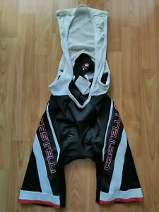 Castelli Men's Cycling Bib Shorts with Kiss3 Chamois Size: M NEW!