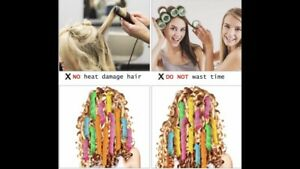 No Heat Hair Curlers Styling