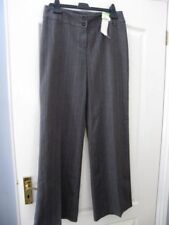 bnwt NEXT TAILORING TROUSERS UK 12 TALL BLACK SLIM BOOTCUT OFFICE BUSINESS L36""
