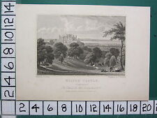 1829 DATED ANTIQUE YORKSHIRE PRINT ~ WILTON CASTLE SEAT OF SIR JOHN LOWTHER