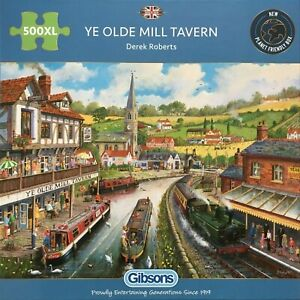 Brand New Gibsons 500XL Large Piece Jigsaw Puzzle - YE OLDE MILL TAVERN