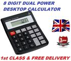 Jumbo Home Office Calculator 8 Digit Large Button School Battery UK