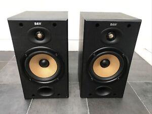 B&W DM601 Black Bowers and Wilkins Speakers Audiophile England UK Bookshelf