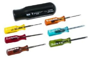 Xcelite By Weller COMPACT SCREWDRIVER SET M-60 7Pcs Phillips & Slotted Tip