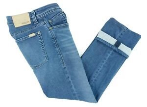 Fidelity Jimmy Men's 34 x 28 Blue Stretch Denim Slim Straight Leg Modern Jeans