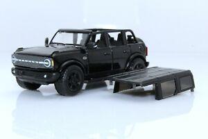 2021 Ford Bronco Wildtrak Black 4 Door 4x4 Off Road SUV 1:64 Scale Diecast Model