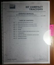 Massey Ferguson MF 205 205-4 210 210-4 220 220-4 Compact Tractor Service Manual