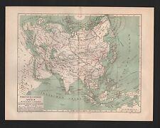 Landkarten map 1893: Forschungsreisen in Zentral-ASIEN. Sibirien Afghanistan