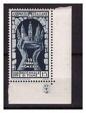 REGNO 1934 - ANNESSIONE FIUME LIRE 1,75 - NUOVO ** NUMERO DI TAVOLA