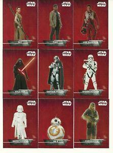 2015 Topps Star Wars The Force Awakens Series 1 STICKER INSERT SET of 18