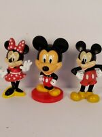 "Disney Mickey Minnie Mouse 3"" Figures Bobblehead Collectibles Vintage Kelloggs"