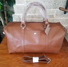 NWOT CUTTER AND BUCK BROWN LEATHER DUFFLE BAG WEEKENDER CARRY ON TRAVEL 19 INCH