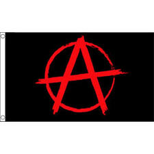 Anarchy Red Flag 5Ft X 3Ft Protest Demo Anarchism Punk Banner With 2 Eyelets New