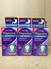 Natrol Magnesium 3-PACK High Absorption 60 Tabs Supports Bone Growth EXP 4/30/17