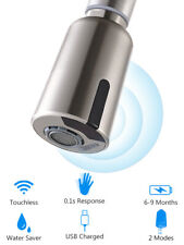 Touchless Automatic Motion Sensor Kitchen Faucets Adapter Brushed Nickel Smart