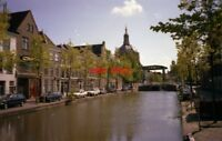 PHOTO  NETHERLANDS LEIDEN 1989 URBAN CANAL VIEW
