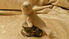 Gifts From Around The world Handcrafted Seel Sea Lion over Rock resin figurine