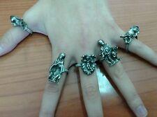 5 anelli regolabili nativita' 3cm pastori maria gesu religioso presepe crib