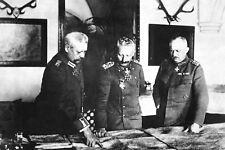 1917-World War 1 Photo-German General Headquarters-Kaiser Wilhelm-Von Hindenburg