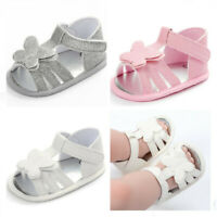 Newborn Infant Butterfly Summer Sandals Baby Girls Child Crib Shoes Size 0-18 M