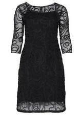 Sheego Plus Size 28 Black Ornate Cornelli Evening Occasion DRESS Wedding £105