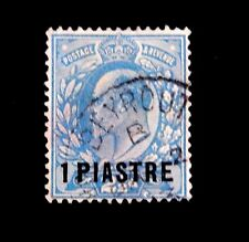 1906 Great Britian stamp in Ottoman Turkey / 1 Piastre / Used